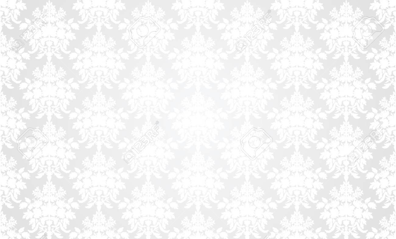 クラシックなスタイルの白いレトロな壁紙背景 のイラスト素材 ベクタ