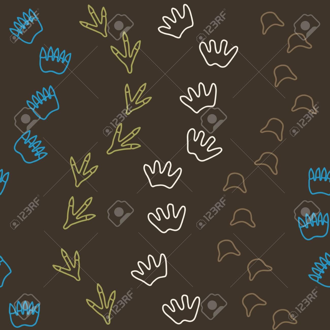 Dinosaur line of 4 footprints babygrow