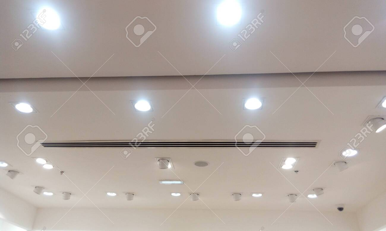 Gypsum False Ceiling And Coves Painted With With Emulsion Paint Stock Photo Picture And Royalty Free Image Image 145576537