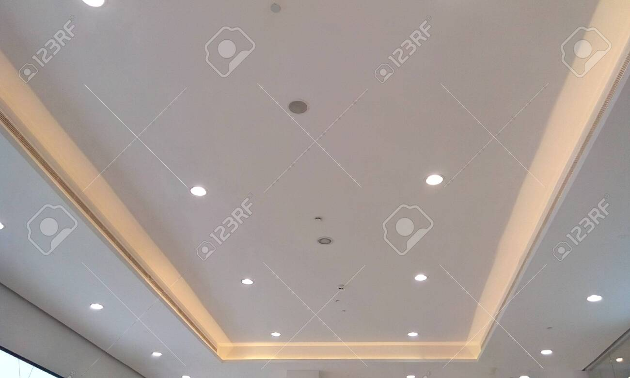 Gypsum False Ceiling And Cove Finishes In A Shopping Mall Interior Stock Photo Picture And Royalty Free Image Image 145576378