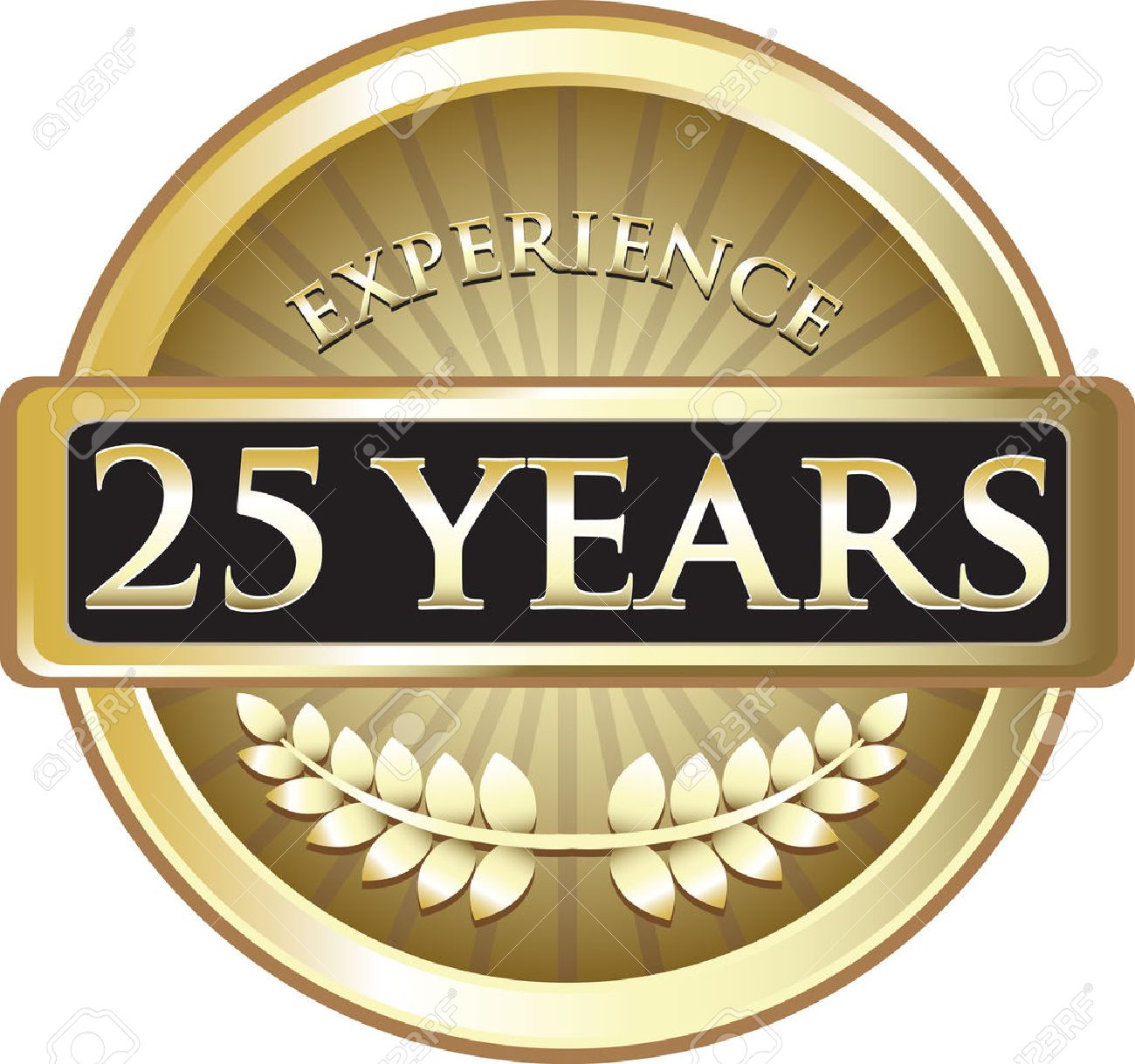 Twenty Five Years Experience Gold Award Stock Vector - 22300759