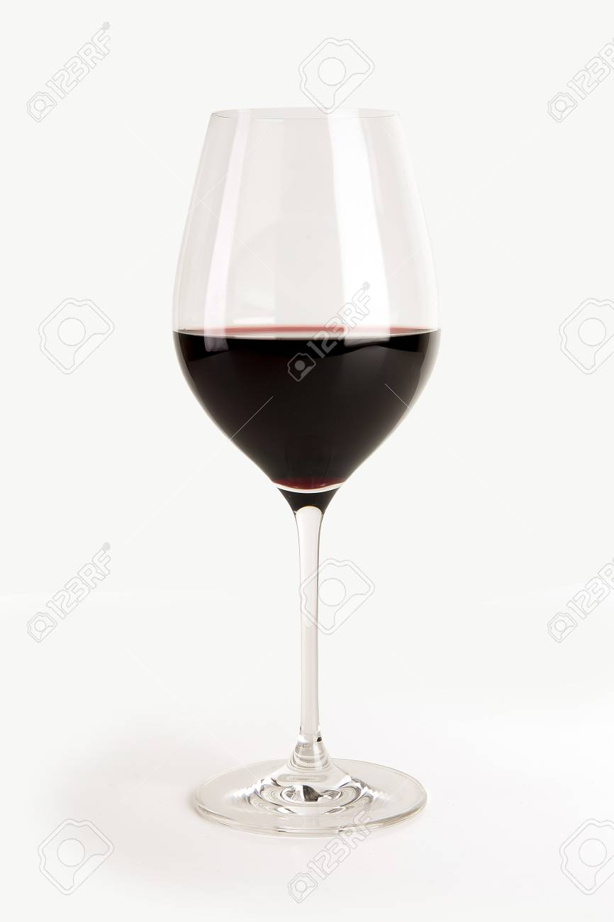 Glass of red wine isolated on white Stock Photo - 94840301