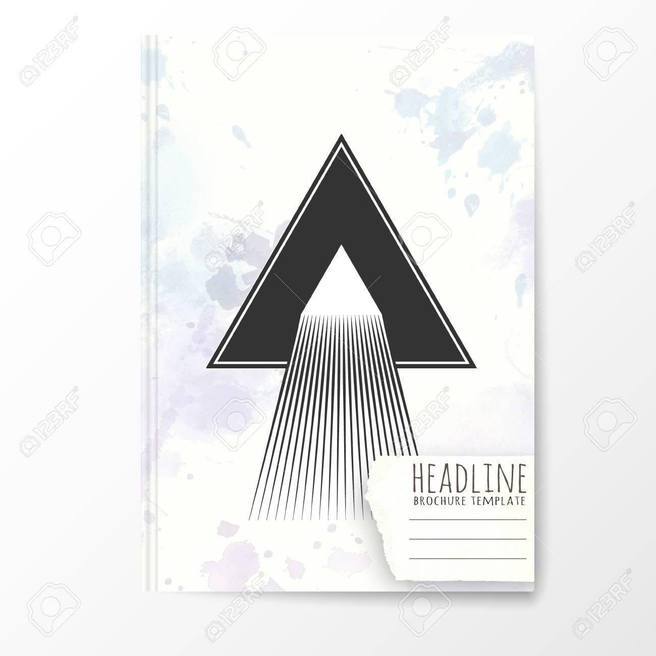 Plantilla De Cuaderno Con Tapa De Triángulo De Abstracción ...