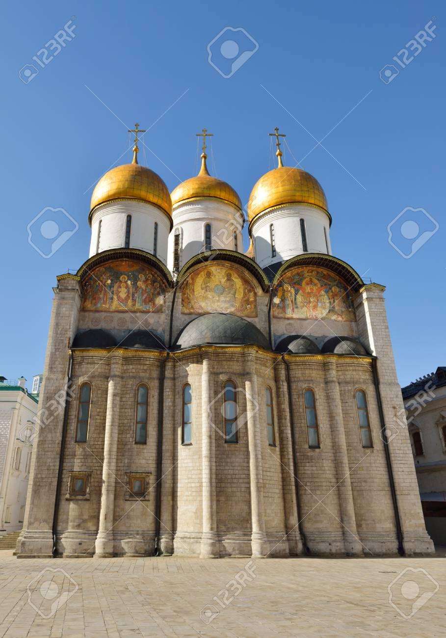 Catedral De La Dormicion 1479 En El Kremlin De Moscu Rusia