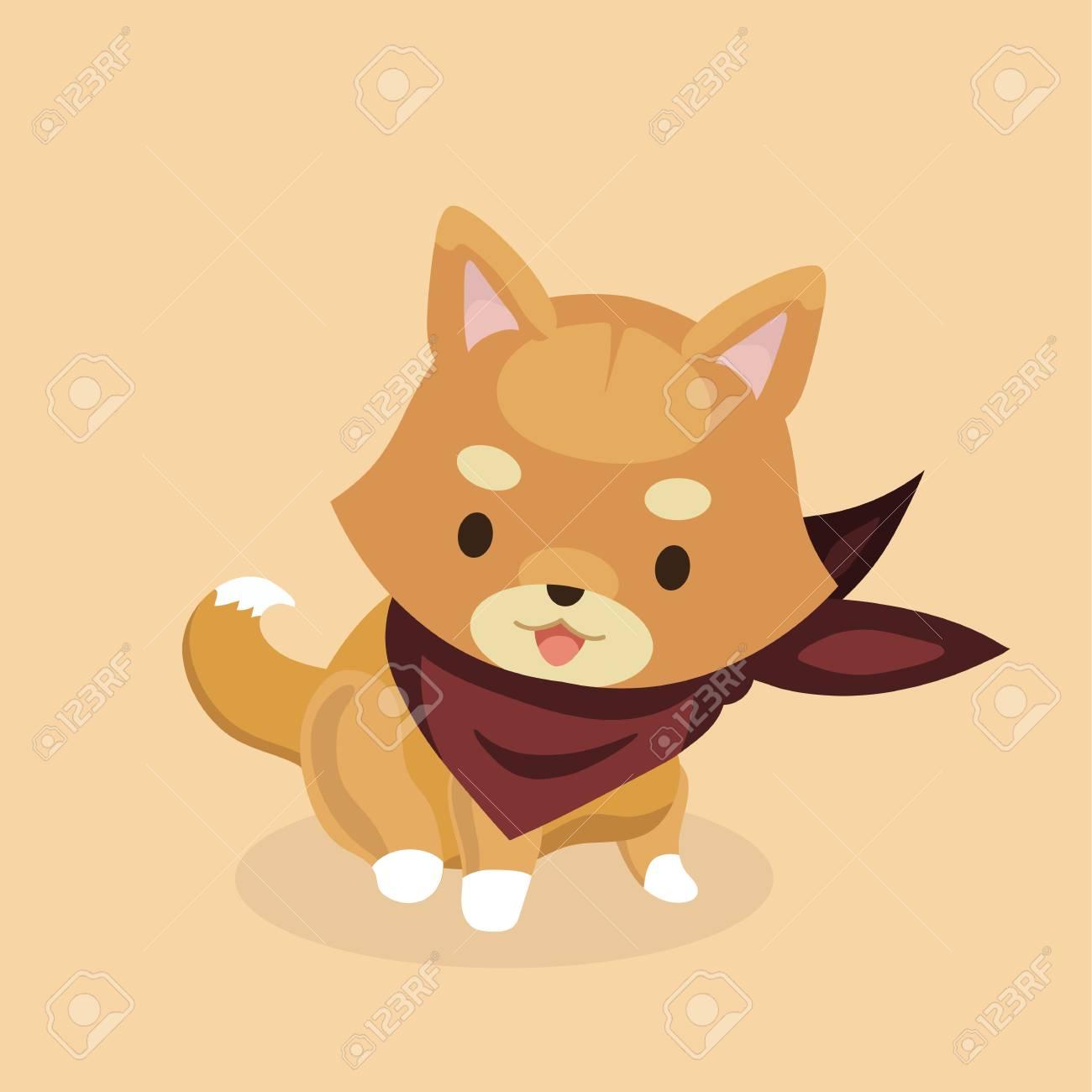 かわいい柴犬犬のベクター イラストですのイラスト素材ベクタ