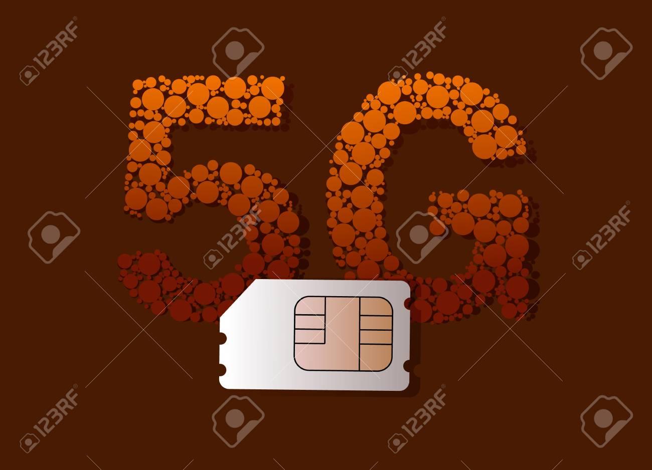 5g Business. 5G SIM Card, High-speed Mobile Internet Royalty Free ...