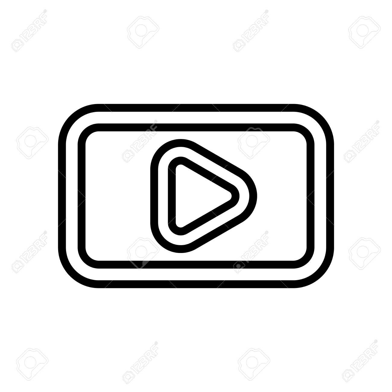 YouTube Logo Square icon vector isolated on white background