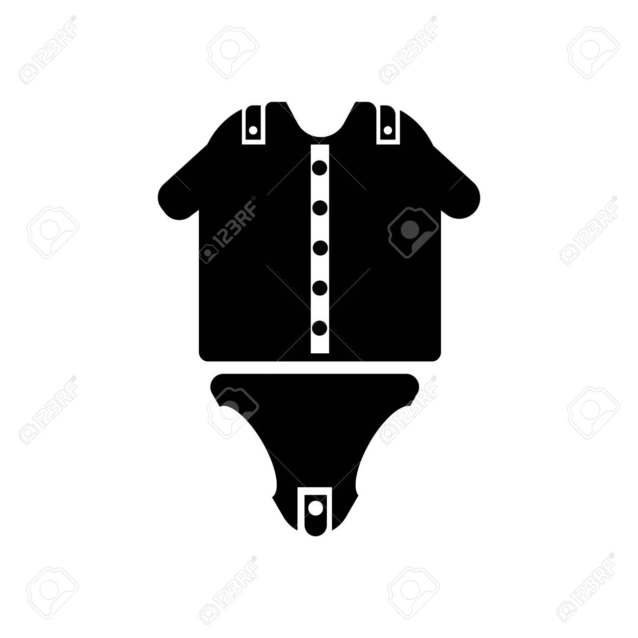 df5ffce33d6a Baby Clothes Icon Vector Isolated On White Background For Your ...