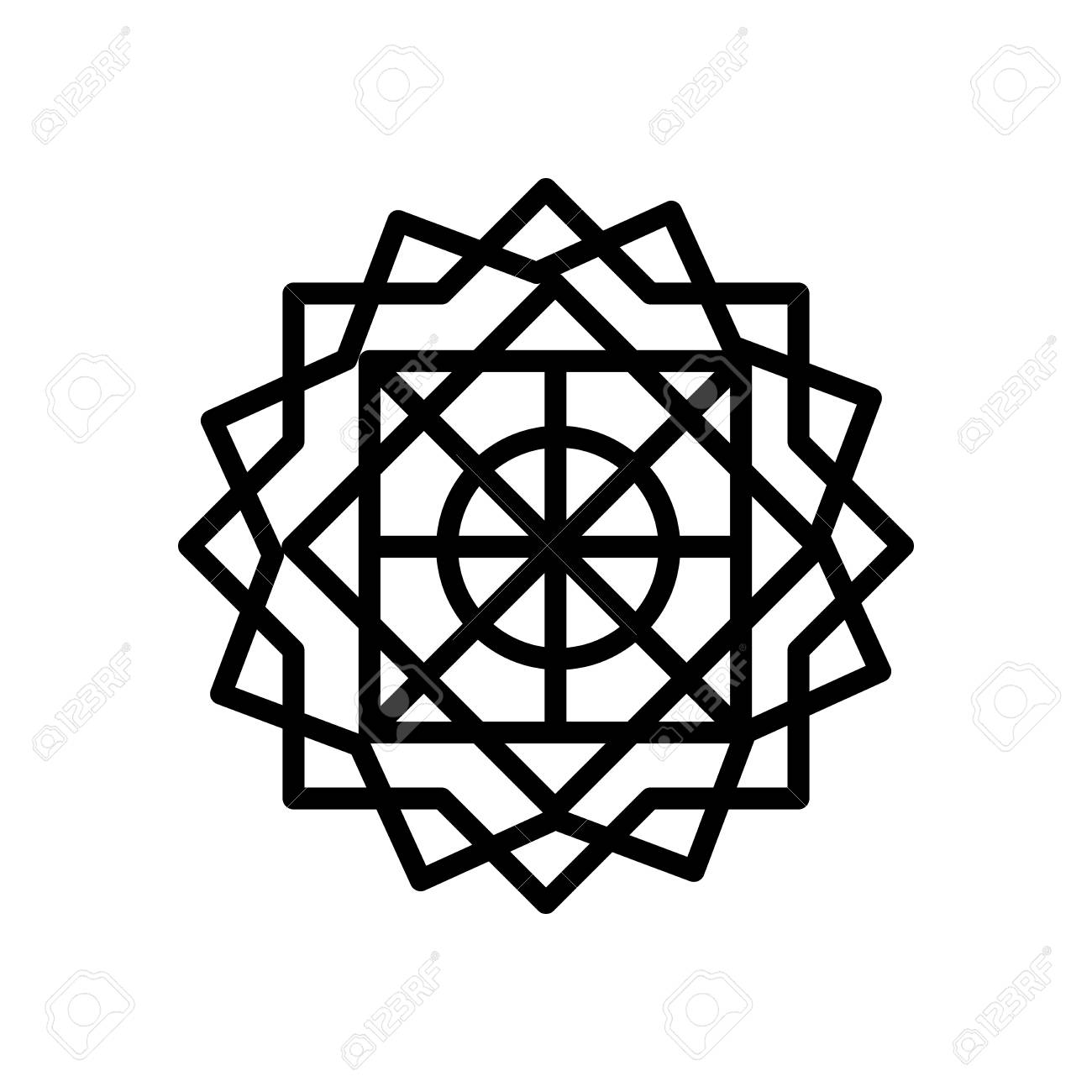 islamic art icon vector isolated on white background islamic royalty free cliparts vectors and stock illustration image 107931512 islamic art icon vector isolated on white background islamic