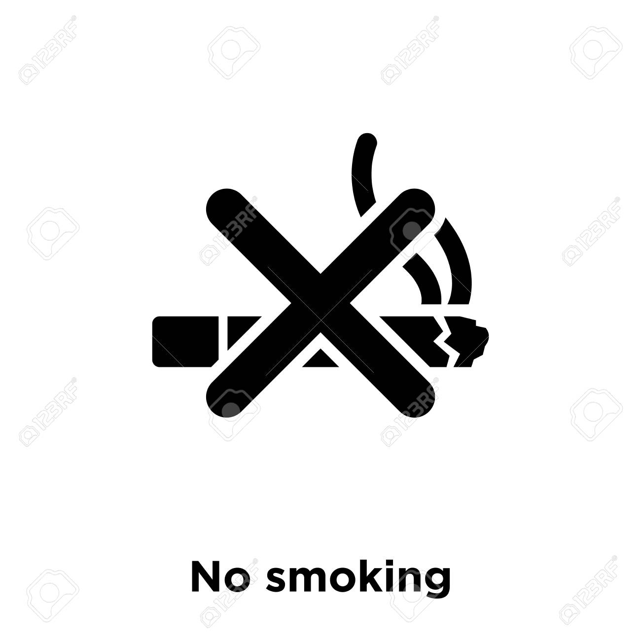 b5bcc1c3e1c No Smoking Icon Vector Isolated On White Background