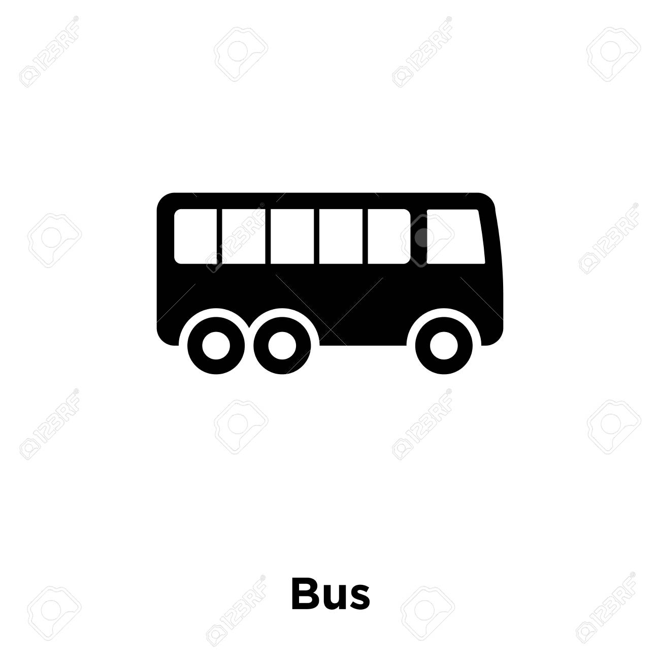 bus icon vector isolated on white background logo concept of bus