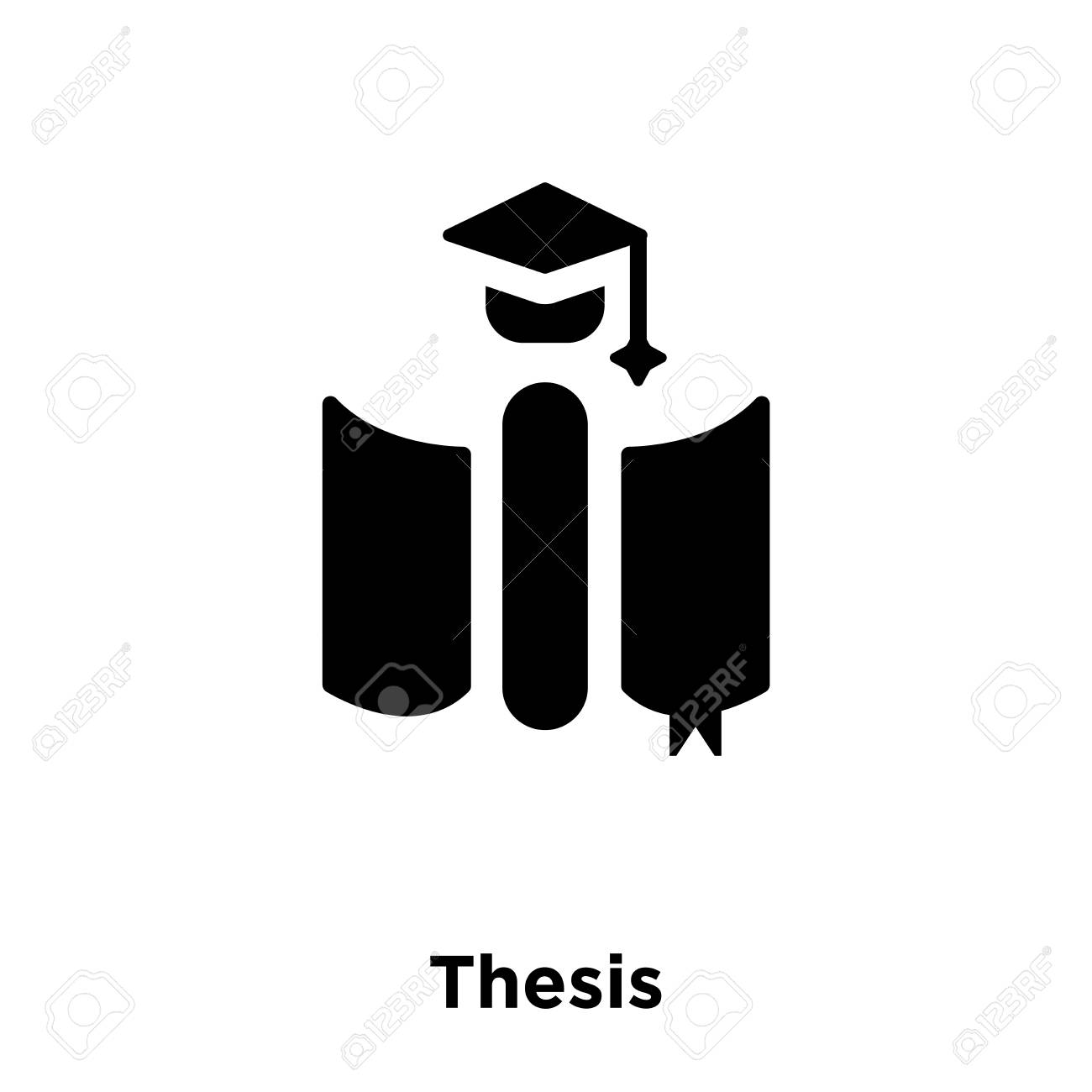 Thesis Icon Vector Isolated On White Background, Logo Concept.. Royalty  Free Cliparts, Vectors, And Stock Illustration. Image 112555726.