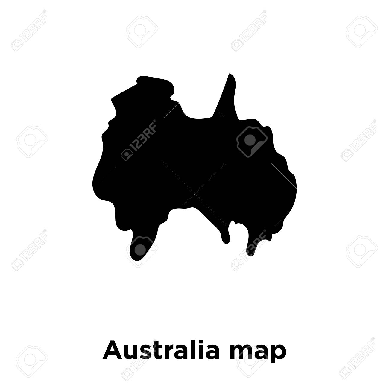 Australia Map Transparent.Australia Map Icon Vector Isolated On White Background Logo