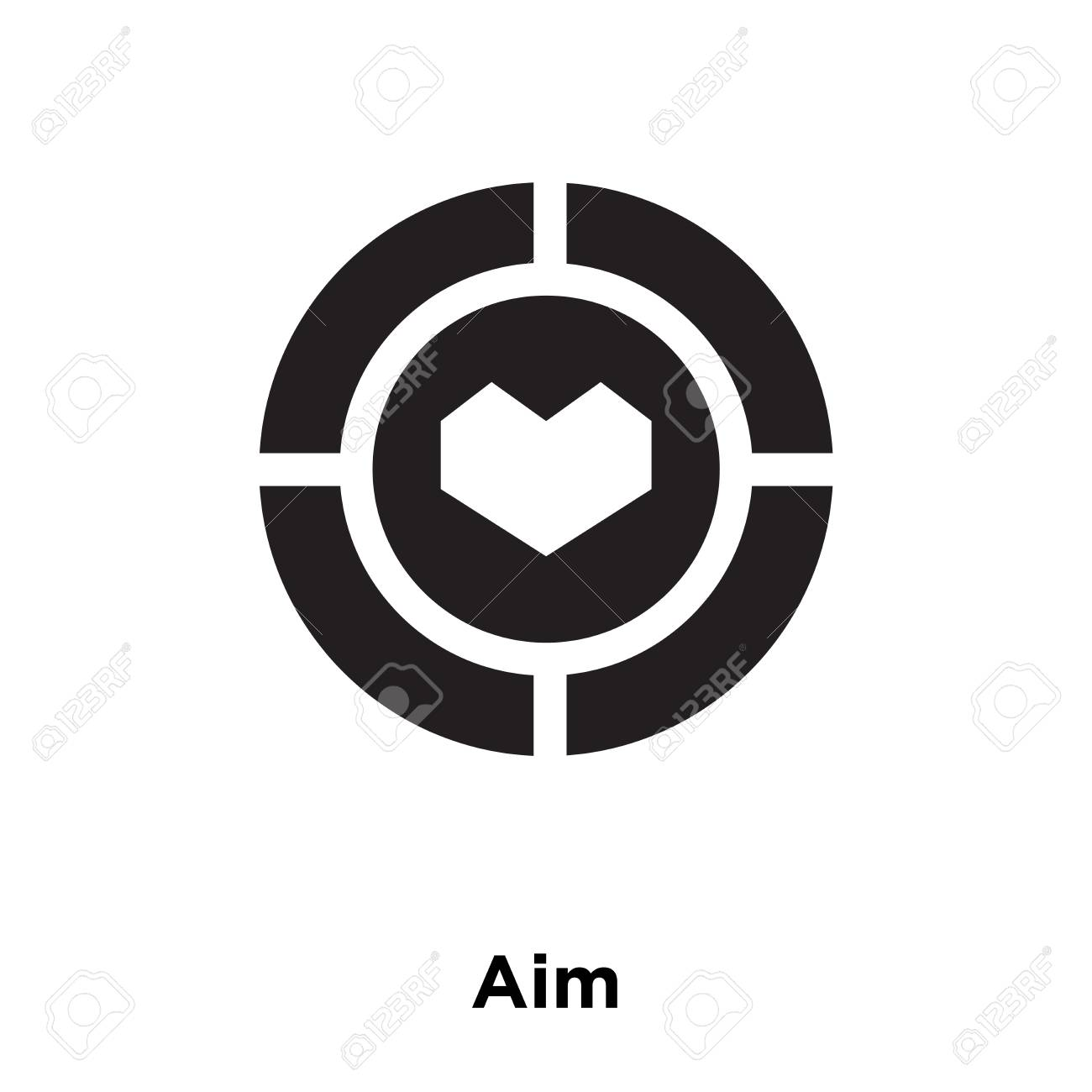 aim icon vector isolated on white background logo concept of royalty free cliparts vectors and stock illustration image 112627339 aim icon vector isolated on white background logo concept of
