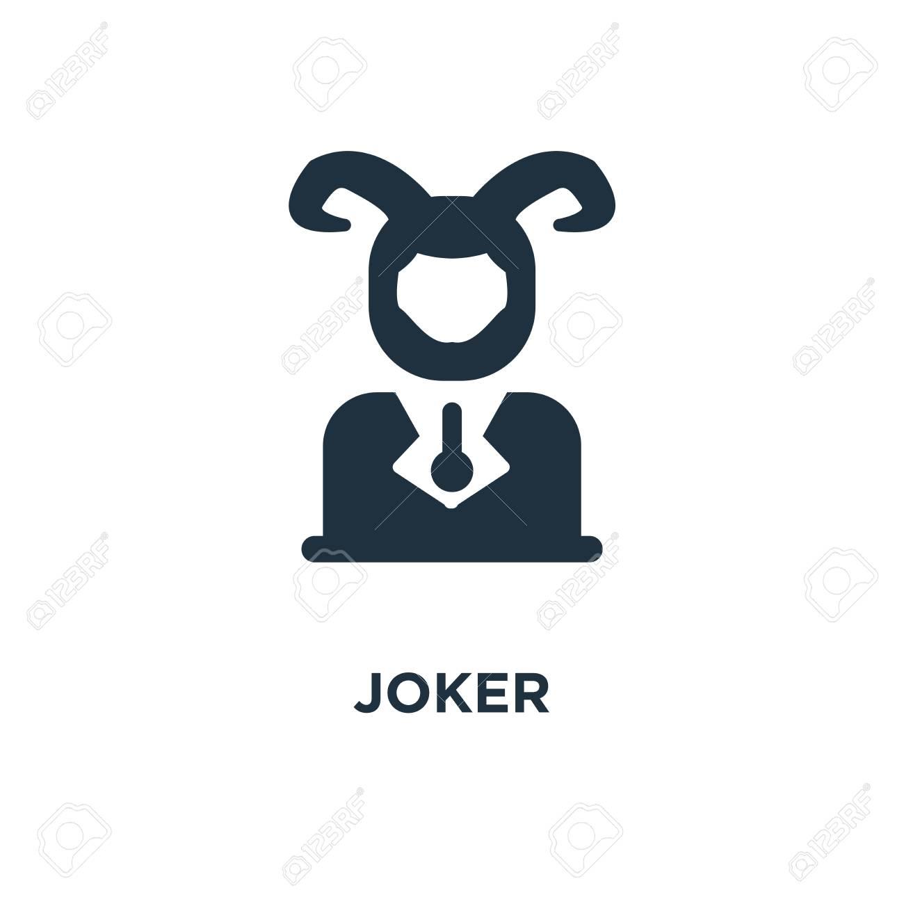 Joker icon  Black filled vector illustration  Joker symbol on