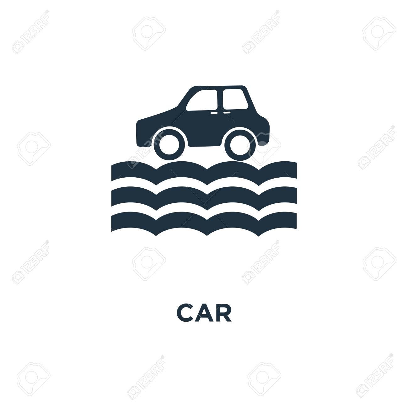 Car Icon Black Filled Vector Illustration Car Symbol On White