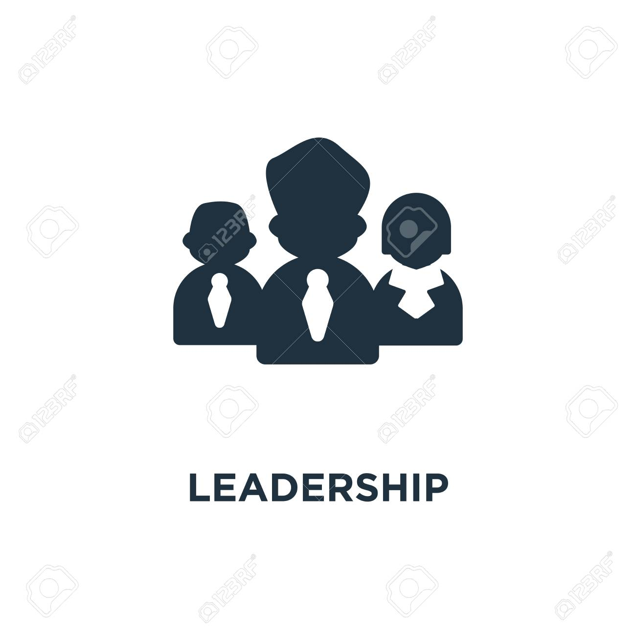Leadership Icon Black Filled Vector Illustration Leadership Royalty Free Cliparts Vectors And Stock Illustration Image 112694446