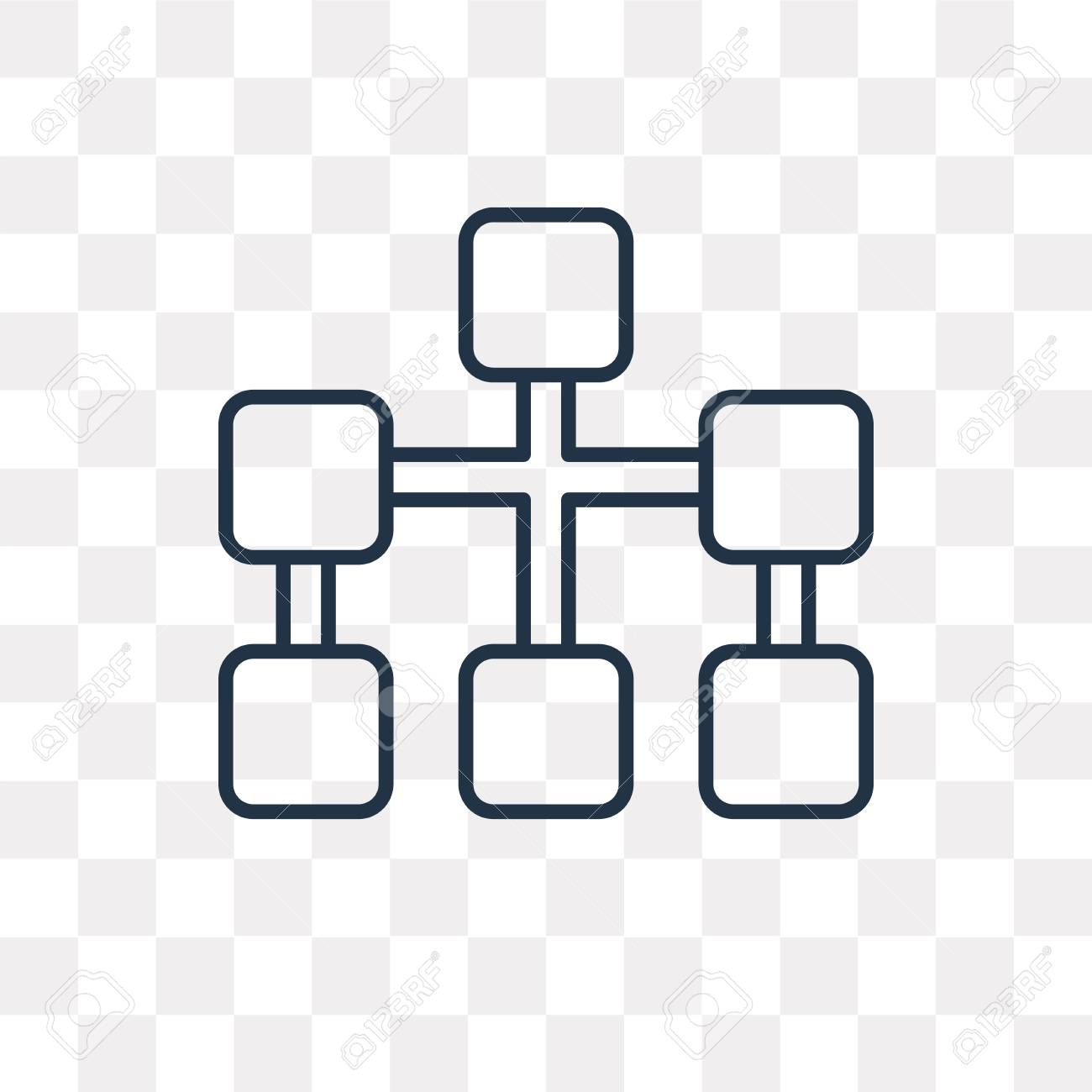 Diagram Vector Outline Icon Isolated On Transparent Background