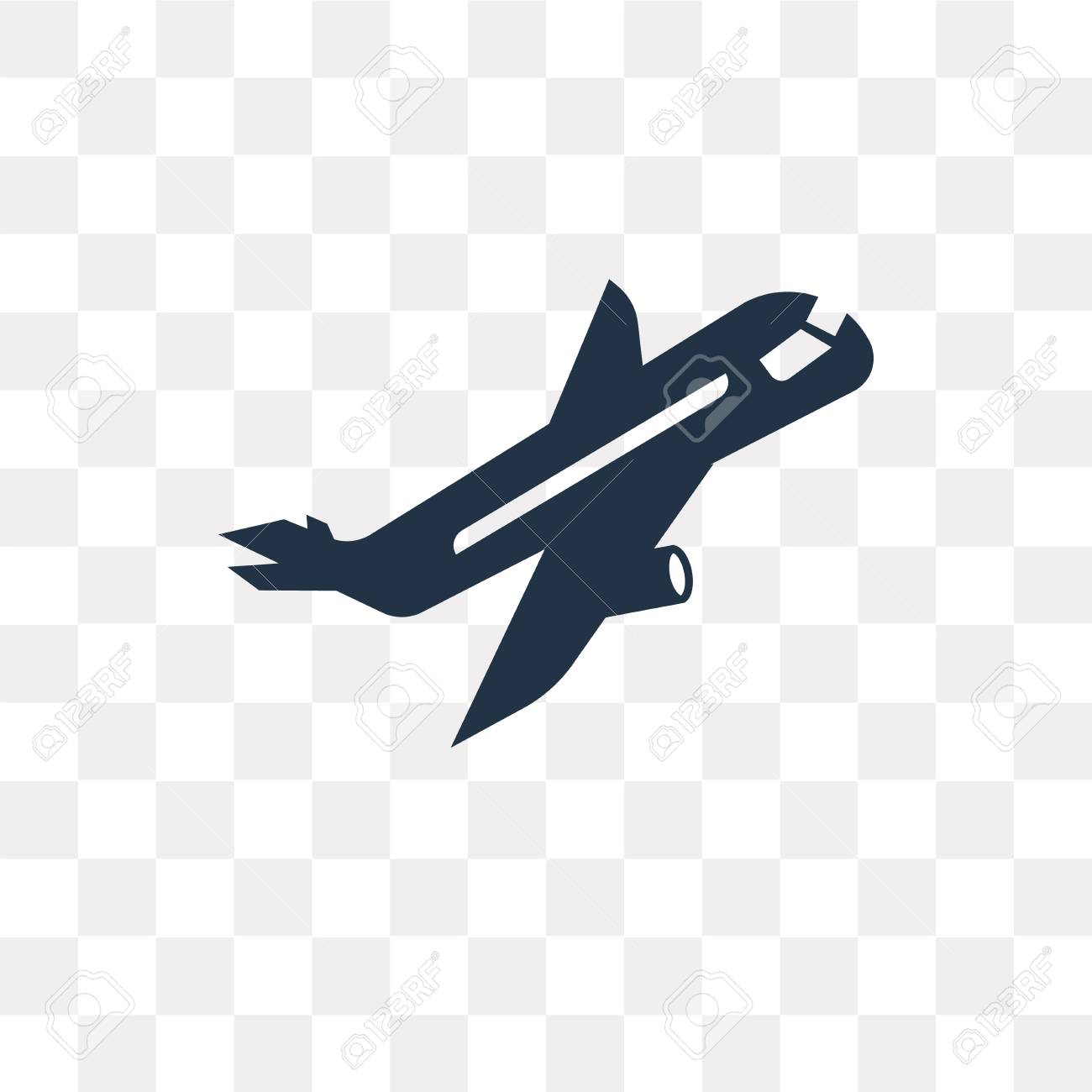 Plane Flying Vector Icon Isolated On Transparent Background