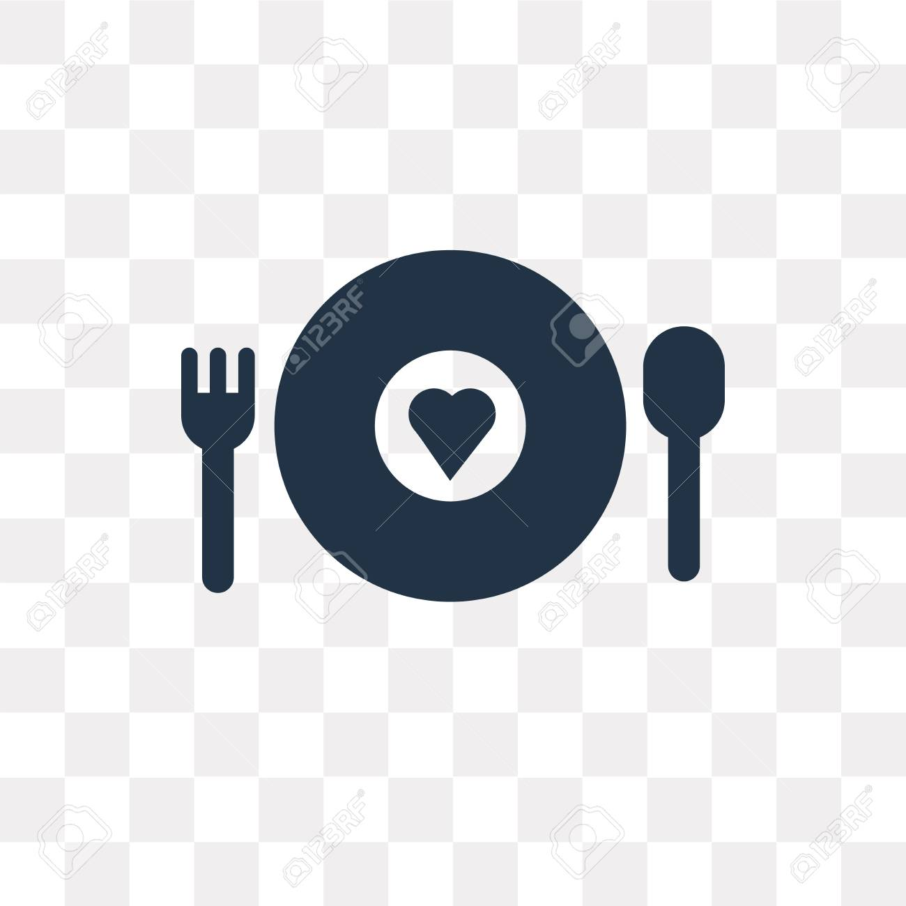 Charity Food vector icon isolated on transparent background,