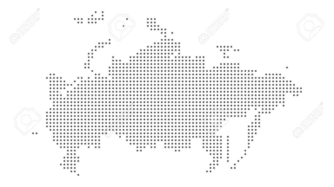 Russia map dotted vector background. Illustration for technology design or infographics - 139631810