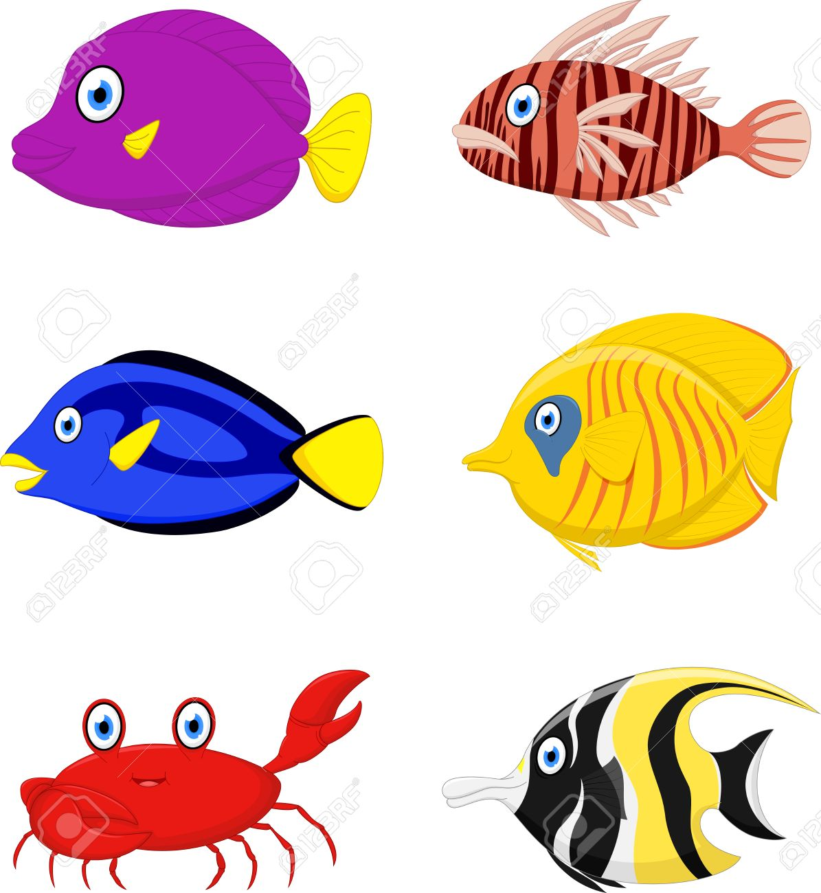 tropical fish cartoon royalty free cliparts vectors and stock