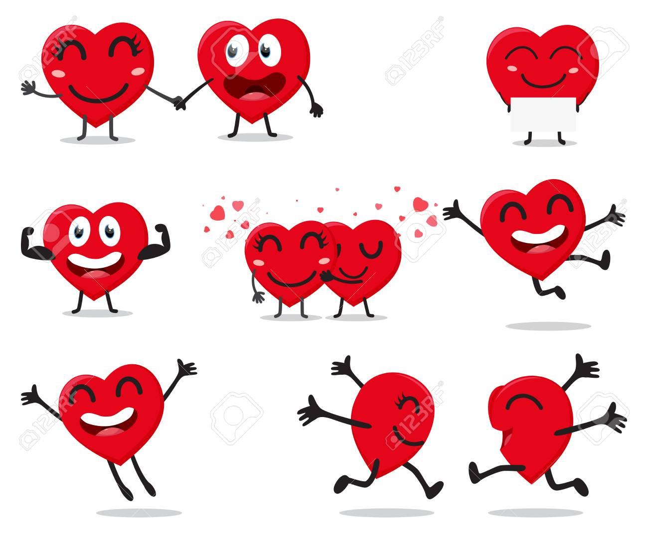 Coeur Dessin personnage de dessin animé coeur saint-valentin clip art libres de