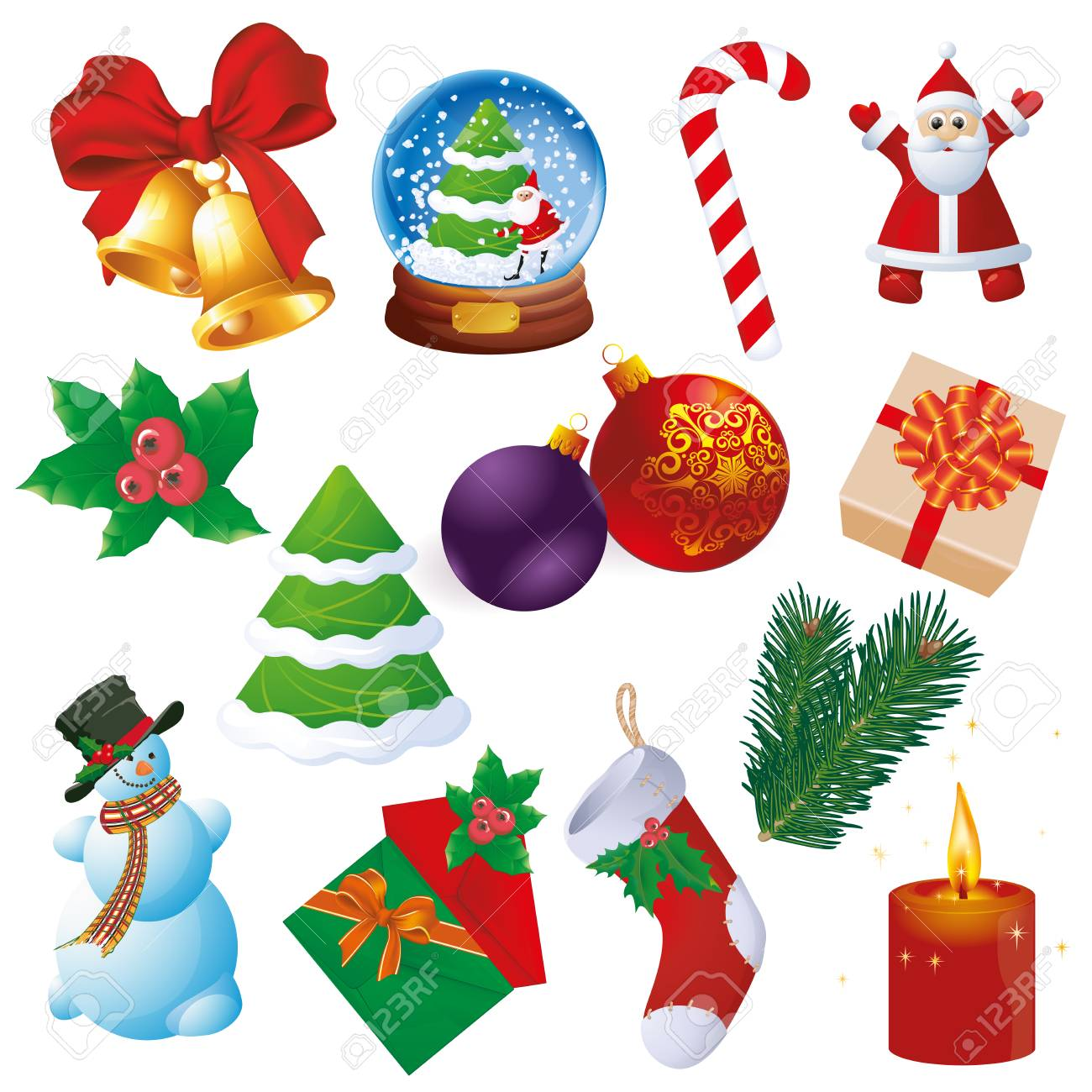 Christmas and new year design and decoration vector element set. - 116472580