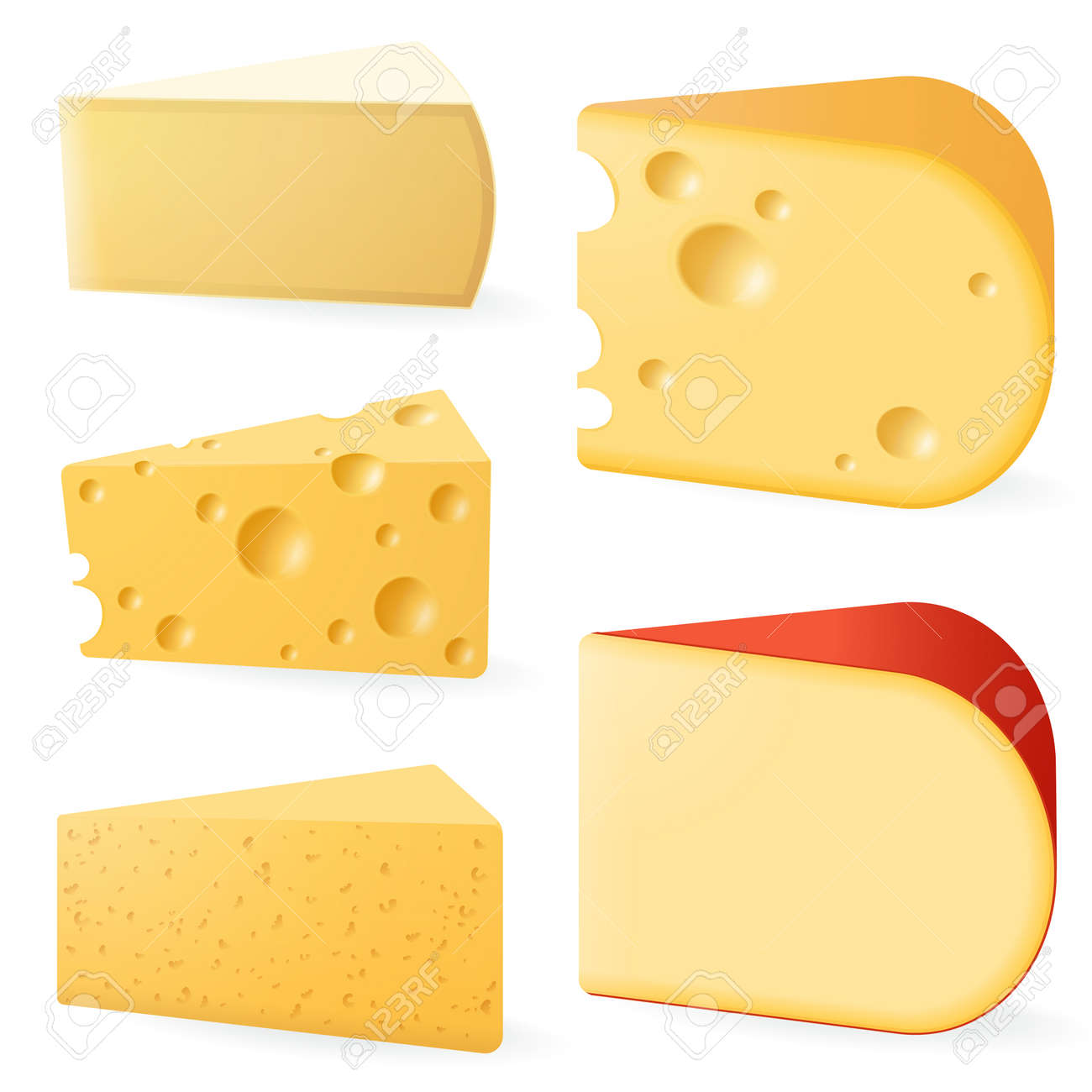 Various types of cheese. - 169068129