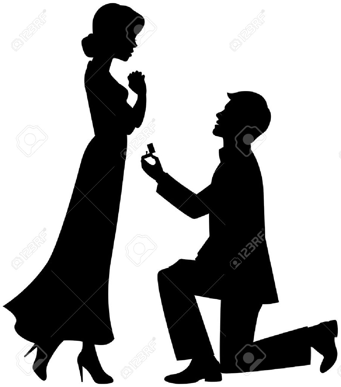 Marriage proposal Stock Vector - 13594583