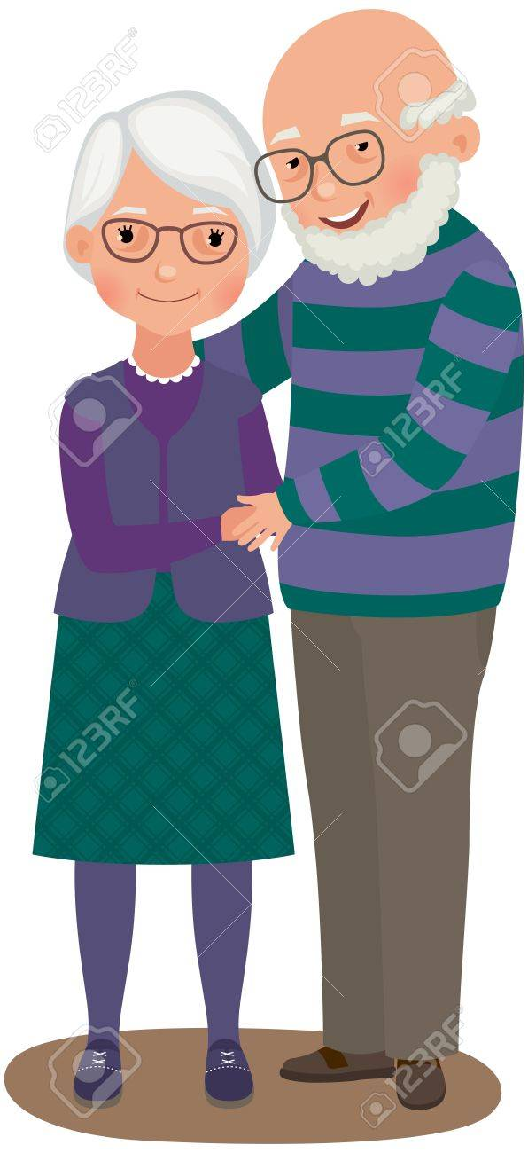 Elderly a married couple in love Stock Vector - 14714012