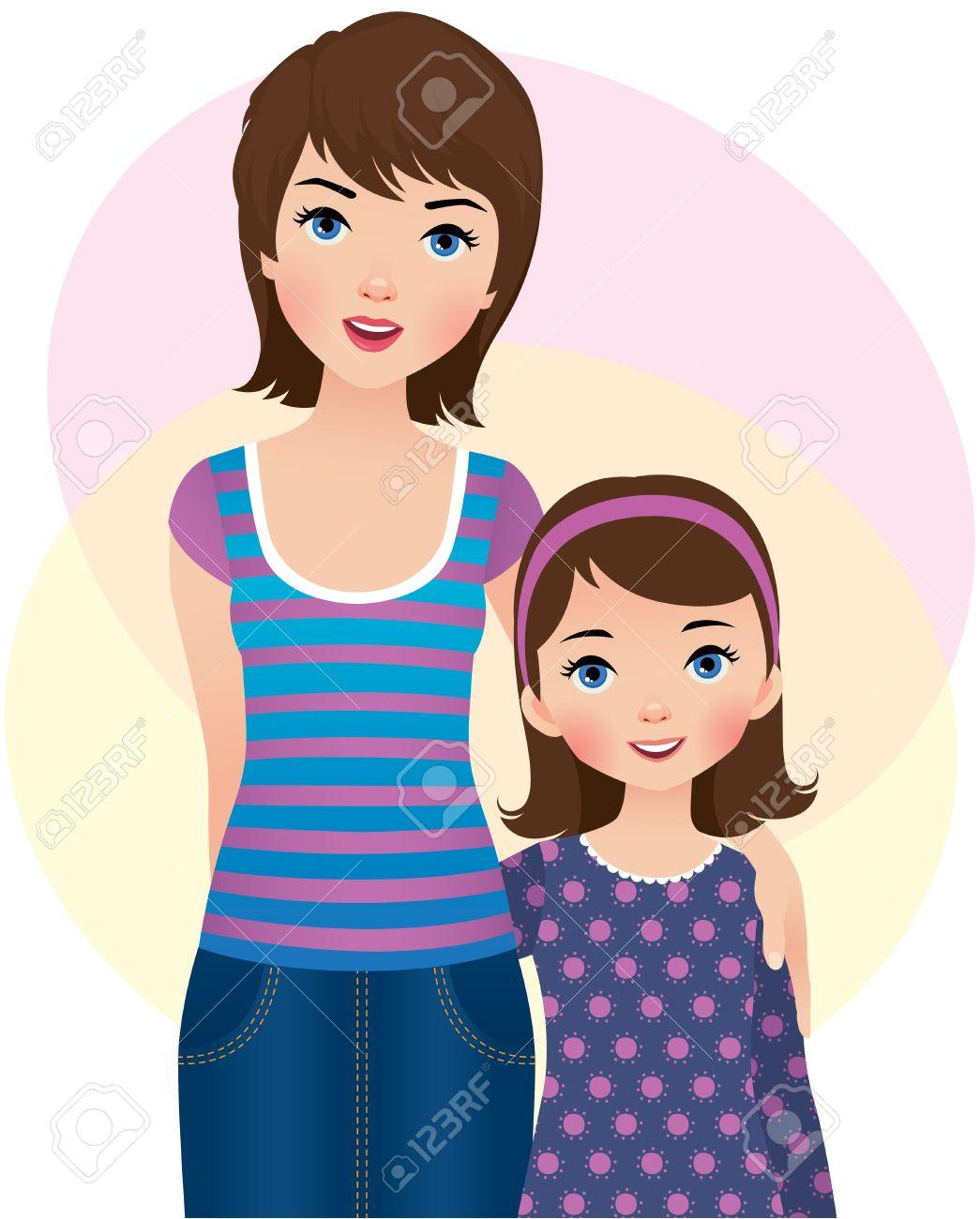 Resultado de imagem para mãe e filha desenho