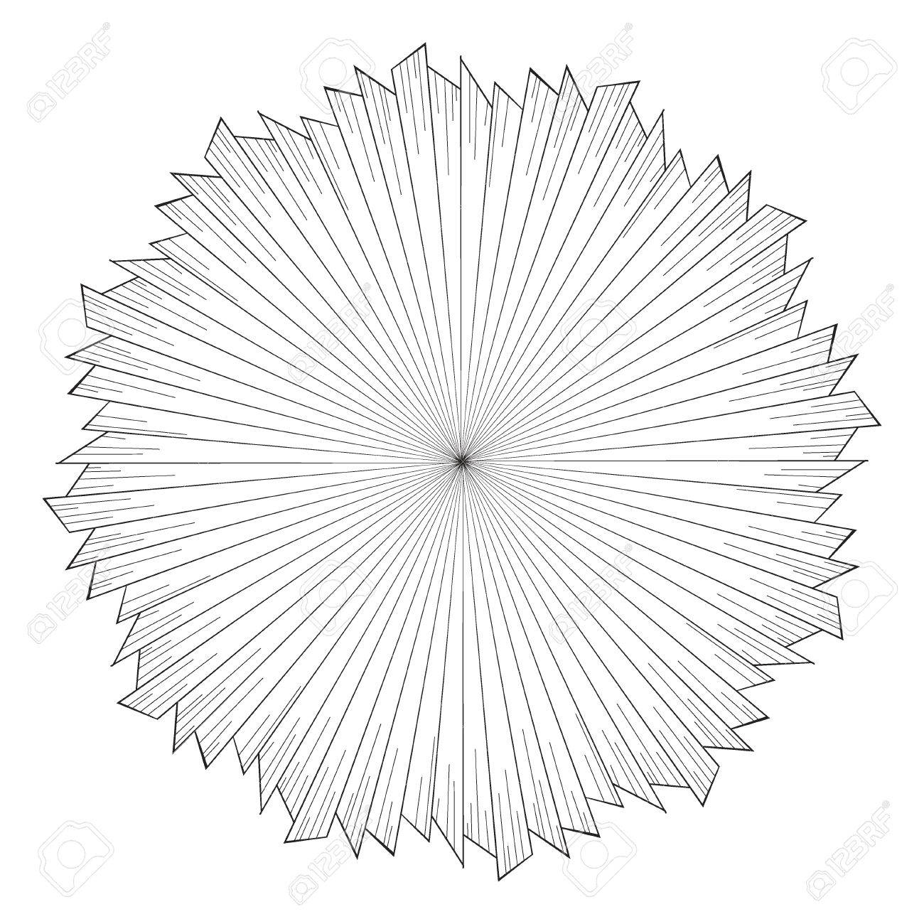 Rays Of Light As A Halo Hand Drawn Vector Illustration Isolated On