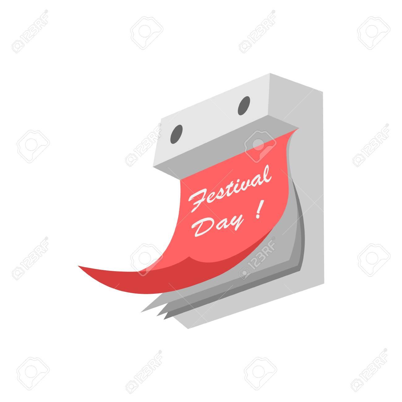 Calendario A Strappo.Illustrazione Vettoriale Di Un Calendario A Strappo Su Uno Sfondo Bianco Dipinto In Tonalita Di Grigio Con Una Foglia Rossa Con Un Iscrizione Un