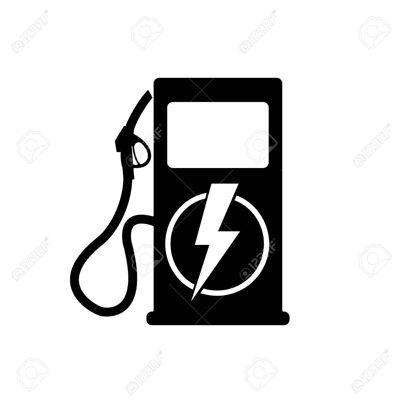 icon charging stations of electric cars royalty free cliparts Portable Power Station icon charging stations of electric cars stock vector 91881837