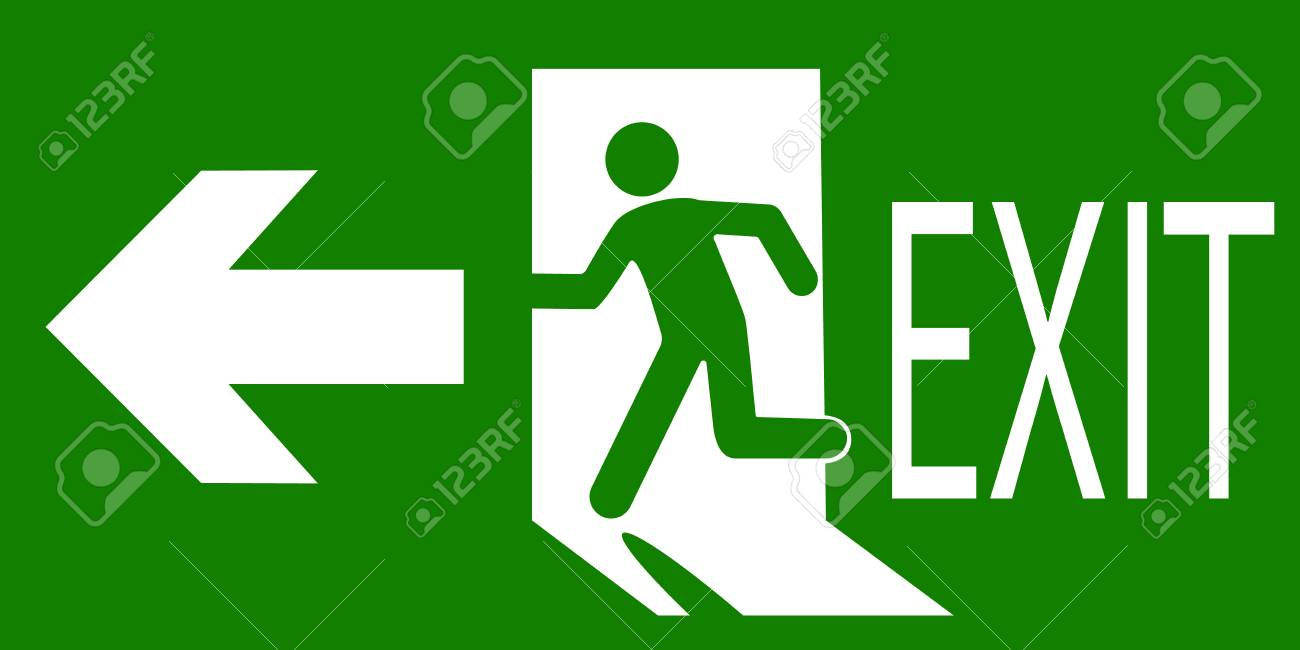 sign of an emergency or fire exit - 99439177