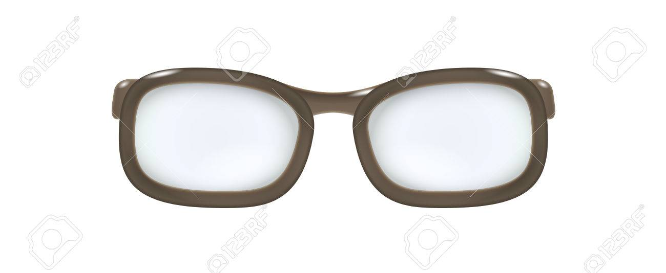 brown glasses without temples on white background Stock Vector - 23521805