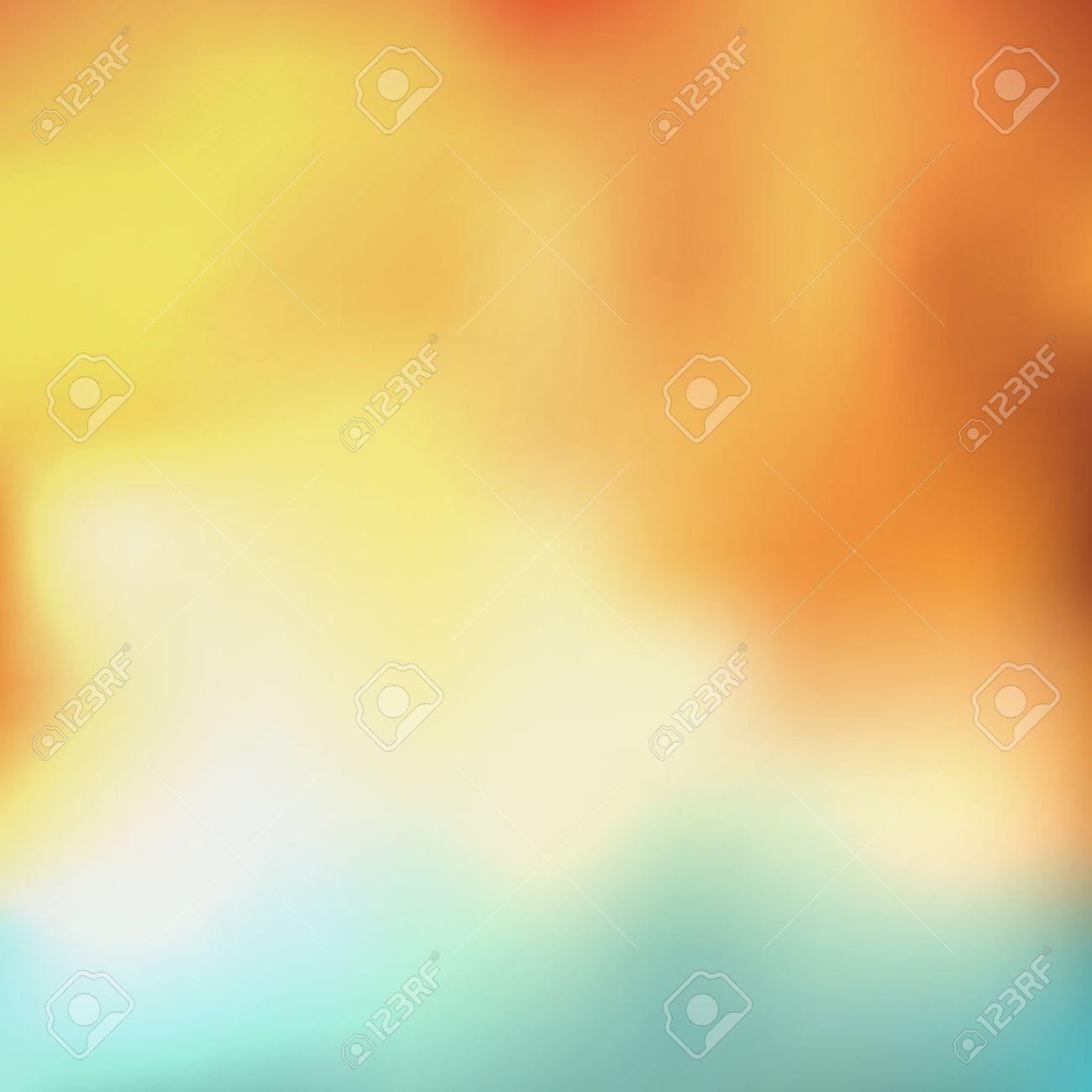 Fond Abstrait Avec Des Couleurs Orange, Jaune, Blanc Et Bleu Clip ...