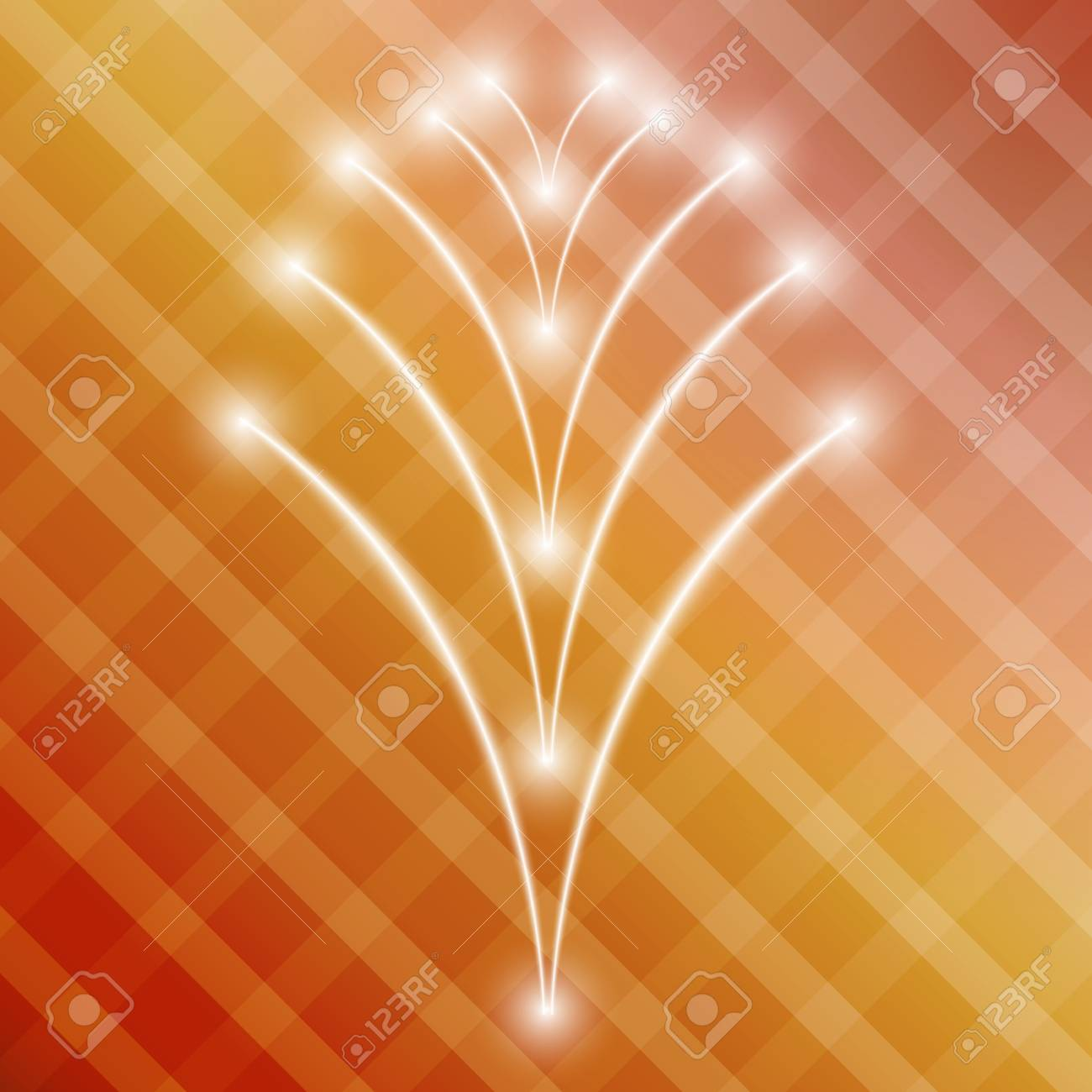 gradient color background ( red, yellow ) with squares and shining stars Stock Vector - 24929270