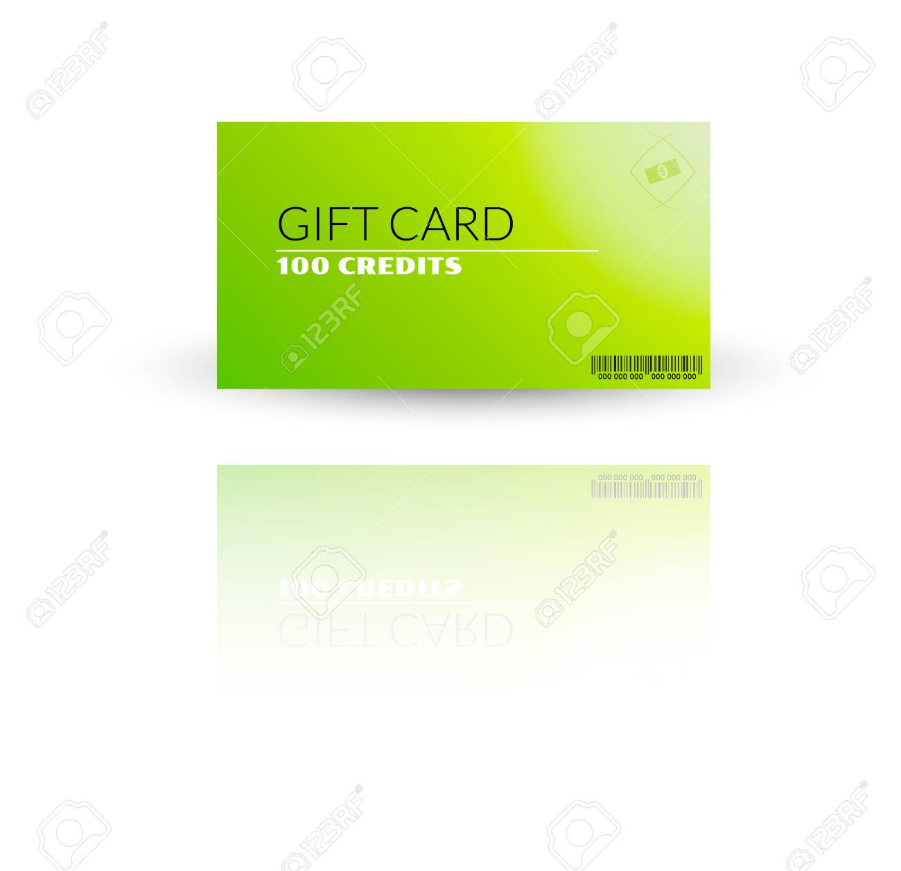 Modern gift card template vector with reflection Stock Vector - 27455597