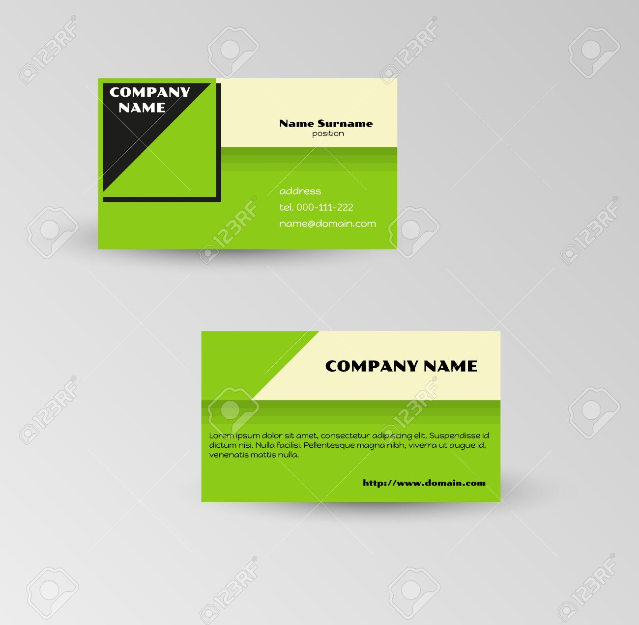 Modern green business card template on gray background royalty free modern green business card template on gray background stock vector 27872807 cheaphphosting Image collections