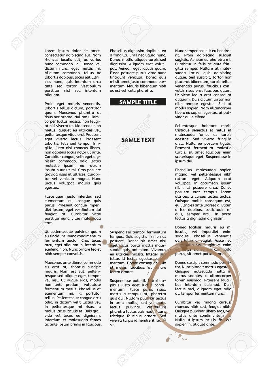 Fantastisch Zeitungsartikel Vorlage Druckbar Zeitgenössisch ...