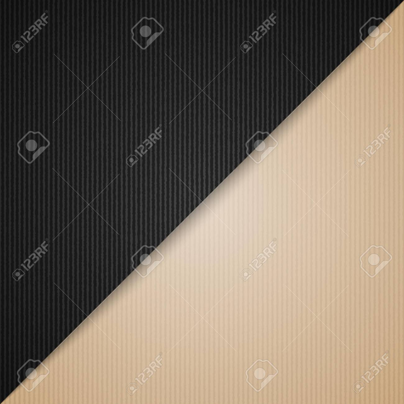 empty corrugated brown and black cardboard background vector