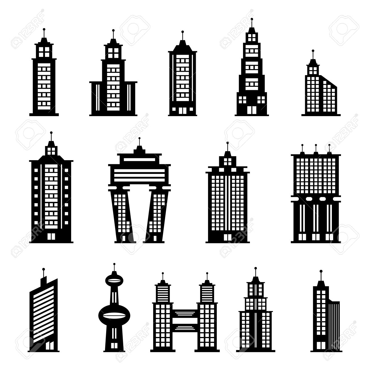 Building Vector Royalty Free Cliparts Vectors And Stock
