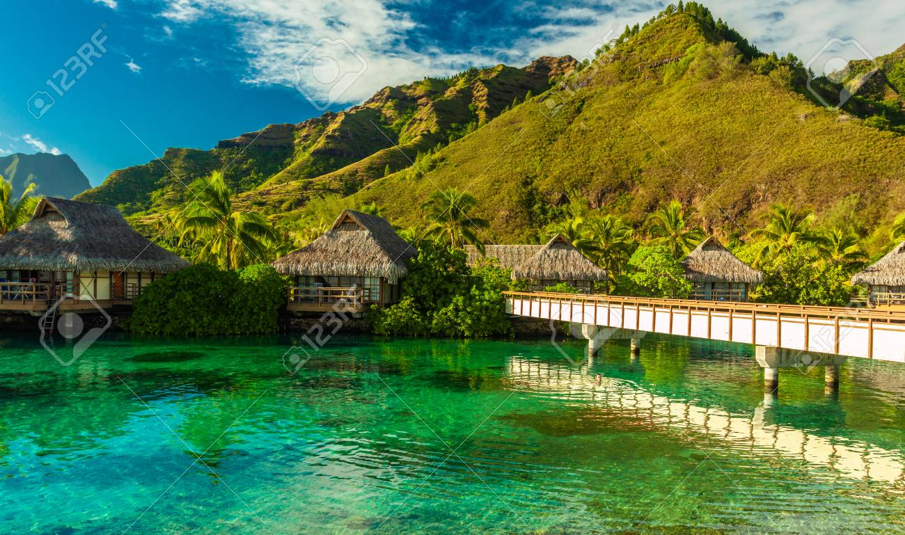 Tropical Resort With Amazing Lagoon On Moorea Tahiti French