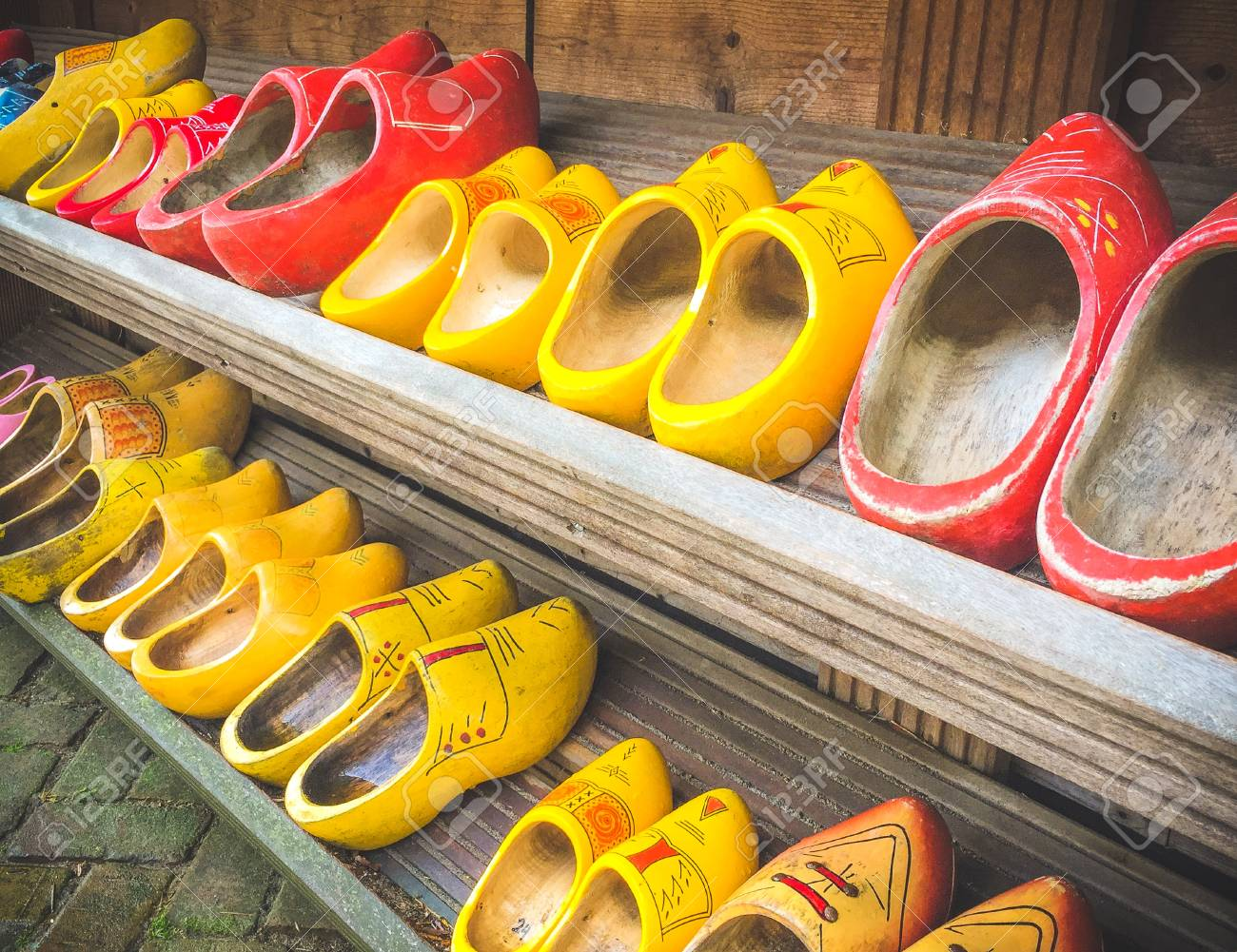 Dutch Wooden Clogs In Amsterdam The Netherlands