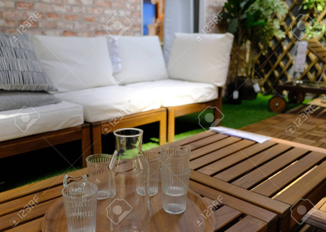 Amazing Glasses On A Table And A Bench On A Balcony Pabps2019 Chair Design Images Pabps2019Com