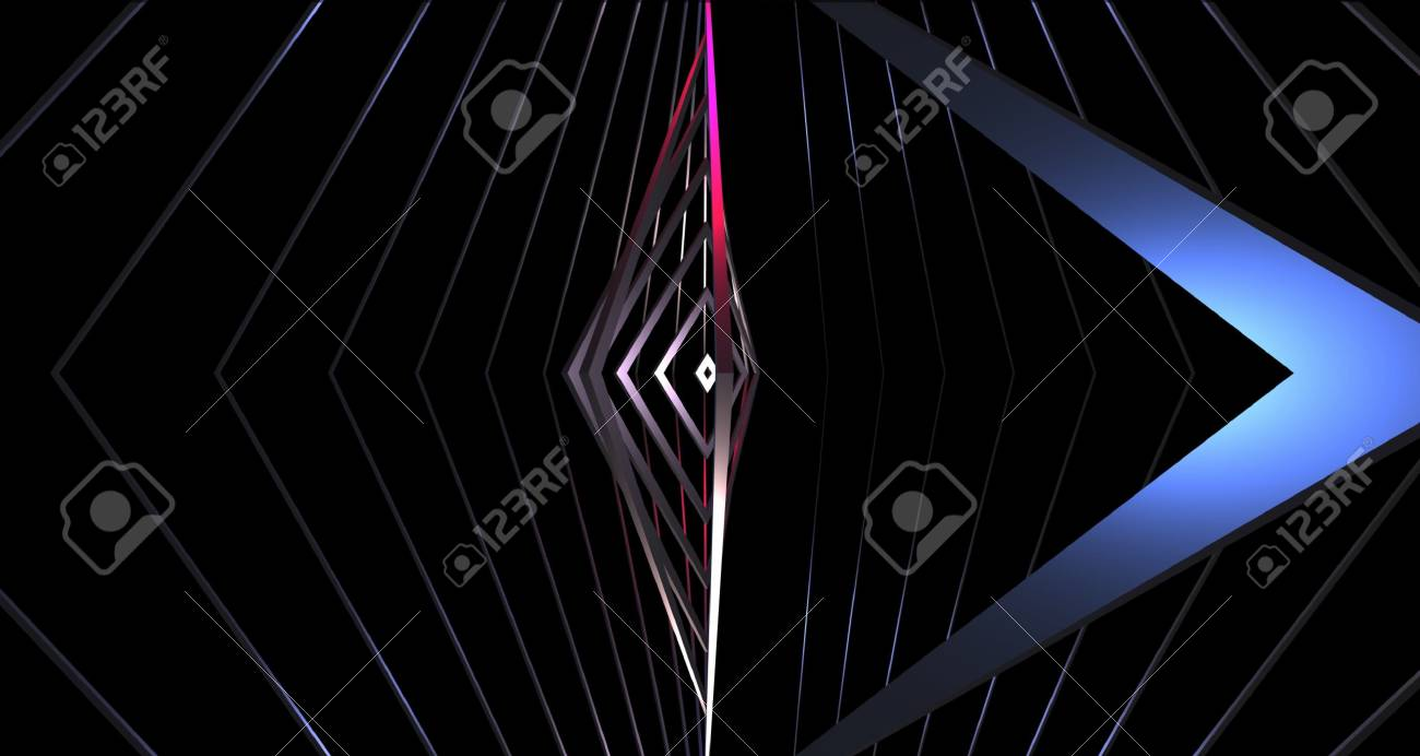 Abstract Wallpaper Background Geometric Triangles Turn Depth