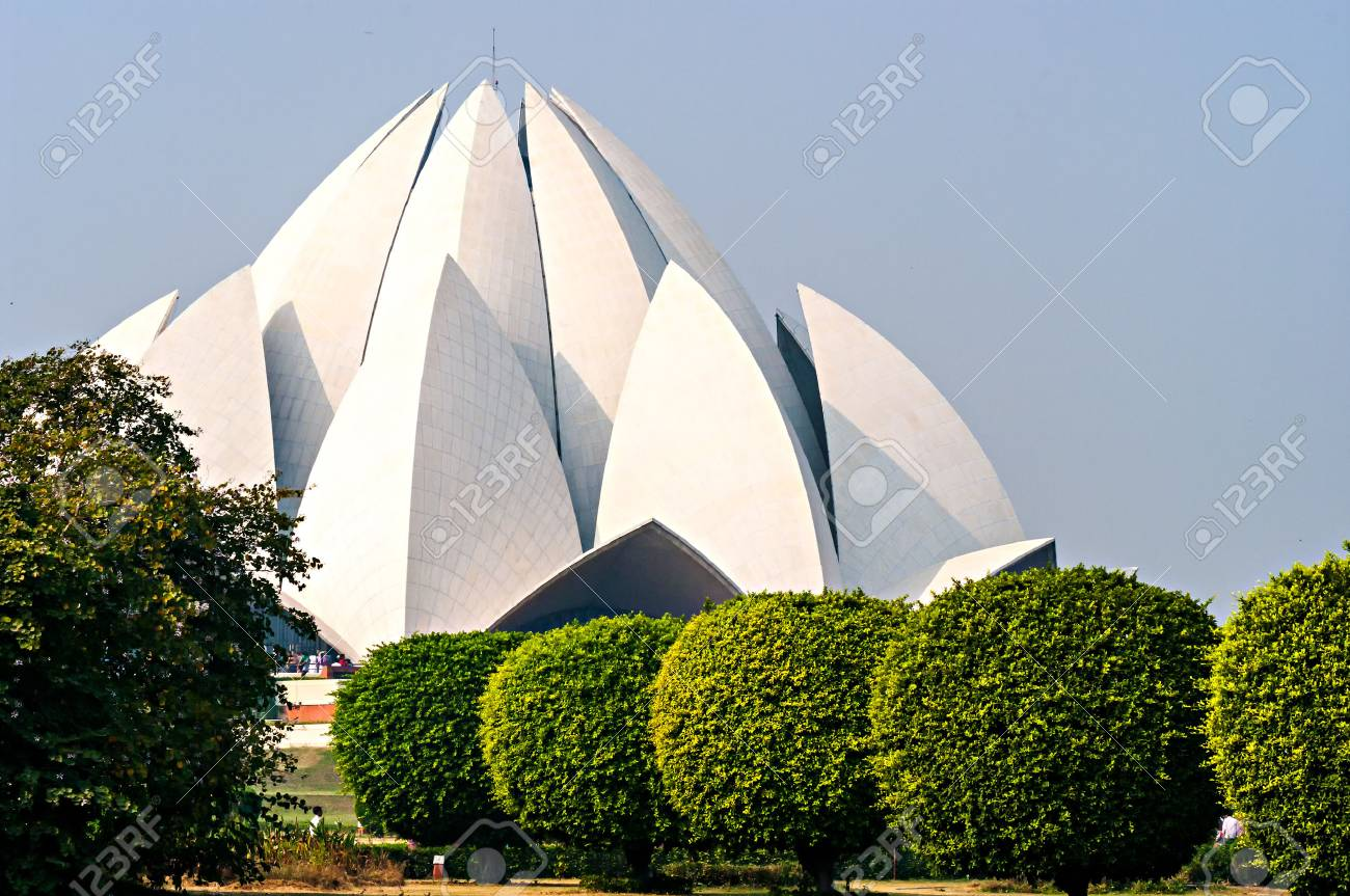 Lotus Temple in  Delhi. India Stock Photo - 23075535