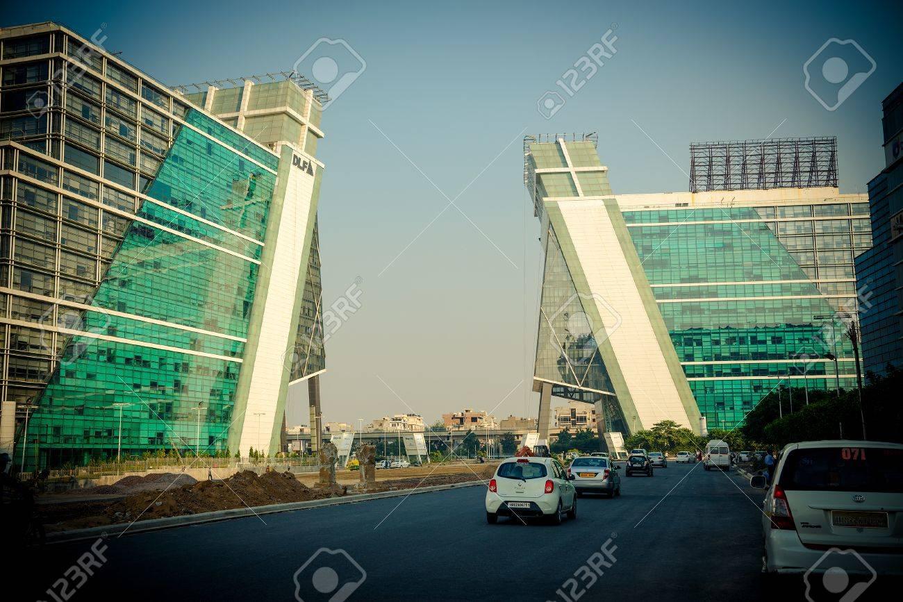 gurgaon india 19 october 20l4 modern buildings in gurgaon